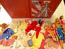 Barbie Skipper Penny Brite Deluxe Fashion Doll Case Mixed Clothes Lot Vintage