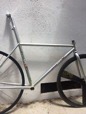 Vintage Steel Track Bike Frame Custom Lo Pro Frame Reynolds Dura ace njs 54cm