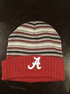 Mens Alabama Crimson Tide Beanie Hat Set Of Two NWT $60 Retail ROLL TIDE