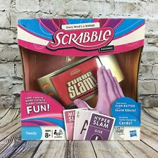 Scrabble Turbo Slam Electronci Card Word Game with Sound Effects Hasbro 2011
