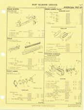 1967 1968 1969 Rambler American Factory OEM Part Number List gtc