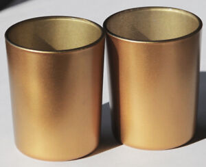 200 Gold Glass Tealight Cup Votive Candle Holder Wedding Event Party BULK BUY