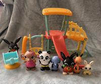 Bing Bunny - Park Playground + 7 Figures - Bing, Amma, Charlie, Flop, Sula Pando