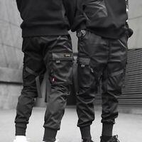 2019 Men Cargo Pants Ribbons Harem Joggers Harajuku Sweatpant Hip Hop Trousers