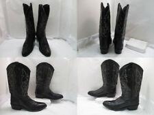 Men's Old West Black Western Cowboy Boots sz: 12 D (#19964 AB)