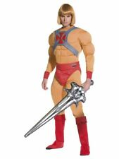 FANCY DRESS HE-MAN PRINCE ADAM MUSCLES COSTUME