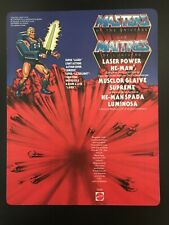 Repro Cardback He-man Laser power good workmanship Motu Masters Of The Universe