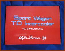 ALFA ROMEO SPORT WAGON TD - LIBRETTO USO E MANUTENZIONE 1989