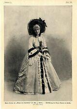 """Agnes Sorma come """"europea di barnheim"""" nel nuovo teatro Berlin c.1904"""