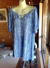 ~~ LOVELY CROCHET SLEEVES TIE -DYE PEASANT TOP ~BNWTS $59.99 ~ Size 20~