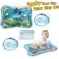 Water Playmat Inflatable Play Mat Tummy Time Infants Baby Toddlers Activity Pad[