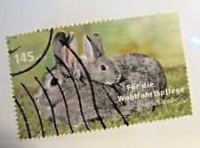 GERMANY Sc# B995 Θ used postage stamp, rabbits, animals, fine +