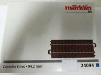 Märklin H0 1 x  24094 C-Gleis gerade 94,2 mm Neuware