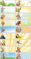 24 BOB THE BUILDER Personalised Name Sticker,Label,Tag