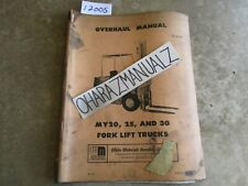 White Forklift MY20 25 30 S-636 Overhaul Manual