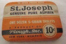 Old 10 Cent St Joseph Aspirin Tin - Medical Advertising