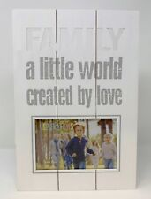 "Cut Out Family A Little World Created By Love Wooden Panel Photo Frame 6""x4"""