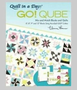"""QUILT IN A DAY GO QUBE BOOK MIX & MATCH BLOCKS & QUILTS 6"""" TO 12"""" ACCUQUILT"""
