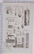 1788 ANTIQUE PRINT PNEUMATICS HYDROMETER EQUIPMENT HYGROMETER DIAGRAMS