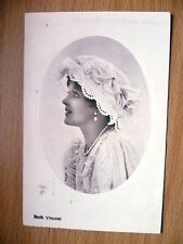 1909 Postcard- Actress RUTH VINCENT, Printed in Germany + Stamp.