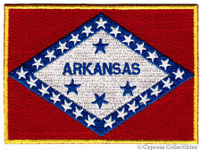 ARKANSAS STATE FLAG PATCH EMBROIDERED IRON-ON new APPLIQUE EMBLEM