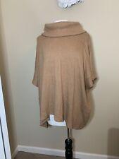 Banana Republic Size M/L Medium Large Tan Brown camel Poncho Sweater Cotton NWT