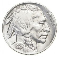 FULL HORN - High Grade - TOUGH - 1937 Buffalo Nickel - Sharp Coin! *832
