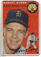 1954 Topps #25 Harvey Kuenn rookie card, Detroit Tigers