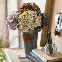 6 Heads Retro Garland DIY Artificial Plant Fake Flowers Hydrangea AU