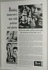 1958 Revell advertisement for plastic model kits, ship, plane, rocket