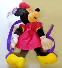 Cute Pyramid Handbags Disney Minnie Mouse Huggable Wearable Plush Backpack