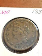 1839 Coronet Head Copper Large Cent     INV06     PL630