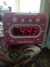 Hello Kitty AM/FM Stereo Radio CD Player With Dual Alarm Clock Combo