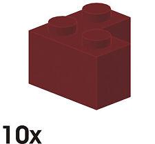 10 St. nuovi 2x2 pietre angolari in rosso scuro (2357) 353