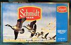 VintageJACOB SCHMIDT BREWING CO. UNWRAPPED BEER FLAT- Geese Take Flight