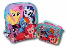 My Little Pony Girls School Backpack Lunch Box Set Rainbow Dash Pink Book Bag