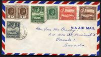 BRITISH ANTIGUA to CANADA air cover 1948 - V. Nice