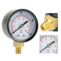 0-200 PSI Air Gauge For Air Tank Accessory Easy To Read Two Color Gauge Bottom