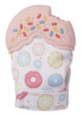 """Ganz E1 Baby Girl Kids Pink 4""""H Donuts Teething Mitt 100% Silicone BG4202PK"""