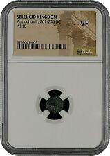 Seleucid Kingdom - Antiochus Ii 261-246 Bc - Ae10 - Ngc Vf - Free Shipping!