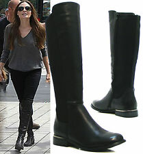 Unbranded Zip Block Heel Knee High Boots for Women