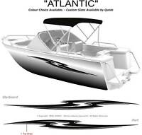 "BOAT GRAPHICS DECAL STICKER KIT ""ATLANTIC -1800""  MARINE CAST VINYL"