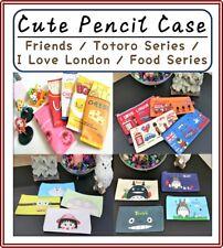 Cute Pencil Case /Totoro/I Love London/Friends Cartoon Character/ Food Series