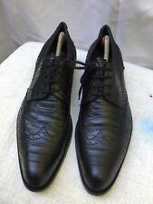 J.M. WESTON Snake Skin Black Leather Wingtip Lace Up shoe Size EUR 43 US 9.5-10