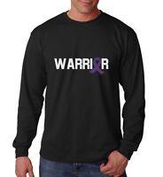 Long Sleeve Warrior Shirt Purple Ribbon T-Shirt Epilepsy Pancreatic Cancer Tee