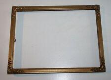 Goldener Rahmen ca 24 x 18 cm Blattgold antik Eckmotiv Bilderrahmen Rillen