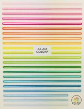 Nail Art 3D Decal Stickers Rainbow Lines Various Colored Lines CA032