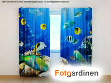 "Fotogardinen ""Aquarium"" Vorhang 3D Fotodruck, Foto-Vorhang, Maßanfertigung"