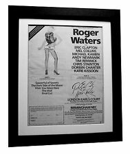 ROGER WATERS+London+Tour+POSTER+AD+RARE ORIGINAL 1984+FRAMED+EXPRESS GLOBAL SHIP