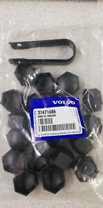 Genuine Volvo wheel nut covers V40 2013-2019, V40CC, DARK GREY, 31471686